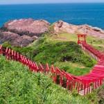 神秘的!海に続く鳥居、元乃隅稲成神社